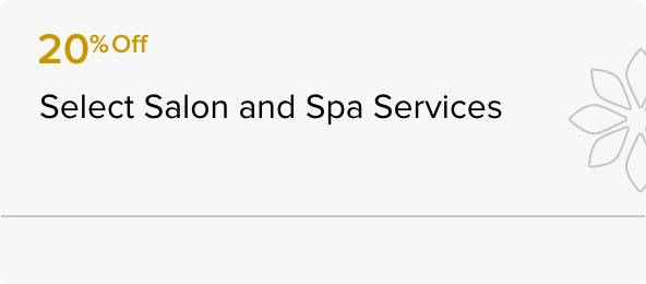 20% off at the Spa Services