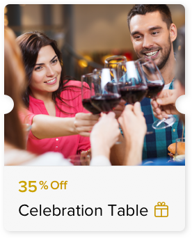 35% Off Food and Beverage Bill